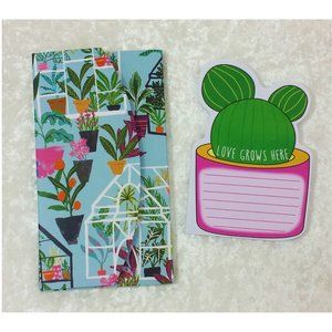 Other - Plant Lover Notepad & Cactus Sticky Note Set